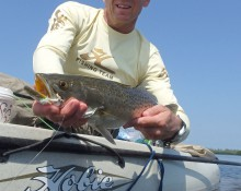 Angler with spotted sea trout