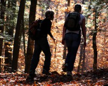 New-Hampshire Hedgehog Mountain Hikers Silhouette